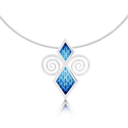 Sheila Fleet - ENXX74 Skara Urn Necklet (enamel colour shown in Skaill)