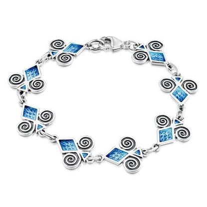 Sheila Fleet - EBL73 Skara Urn Bracelet (enamel colour shown in Skaill)