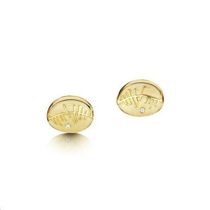 Sheila Fleet - DE103 Skyran Earrings - 9YG