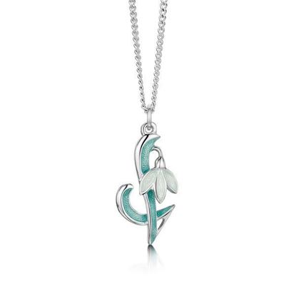 Sheila Fleet - EP0226 Snowdrop Pendant  (enamel shown in Leaf)