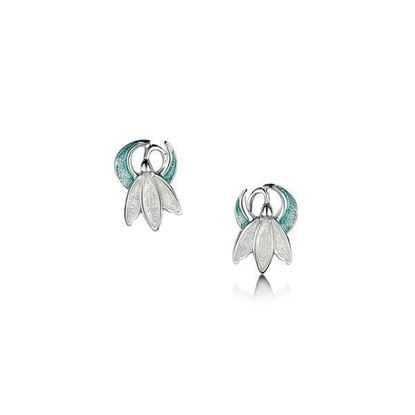Sheila Fleet - EE0226 Snowdrop Earrings (enamel shown in Leaf)