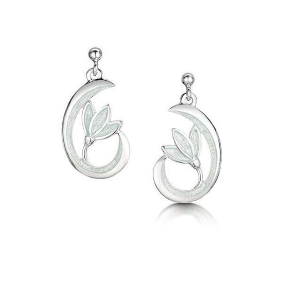 055fdddf4 Sheila Fleet - EE231 Snowdrop Earrings (enamel shown in Crystal). Sheila  Fleet Jewellery