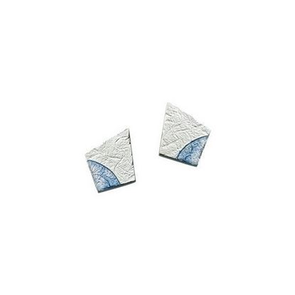 Sheila Fleet - EEX141 Standing Stone Earrings (enamel colour shown in Slate)