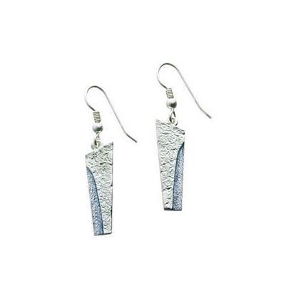 Sheila Fleet - EE141 Standing Stone Earrings (enamel colour shown in Slate)
