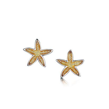 Sheila Fleet - EE251 Starfish Earrings (enamel shown in Starfish)