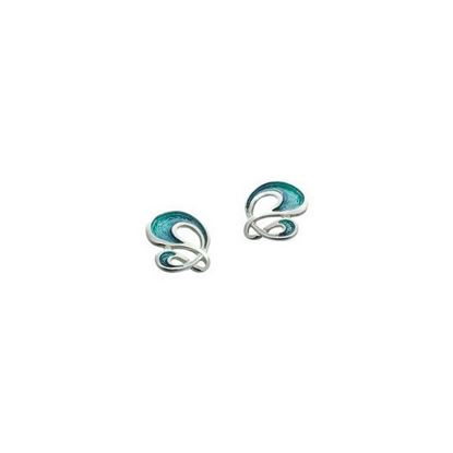 Sheila Fleet - EE054 Storm Earrings (enamel shown in Storm)
