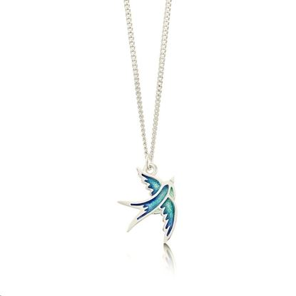 Sheila Fleet - EP0197 Swallows Pendant (enamel shown in Summer Blue)