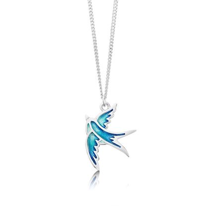 Sheila Fleet - EP197 Swallows Pendant (enamel shown in Summer Blue)