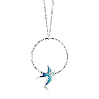 Sheila Fleet - EPX198 Swallows Pendant (enamel shown in Summer Blue)