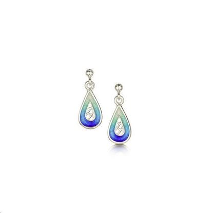 Sheila Fleet - EE0205 Tidal Treasures Earrings (enamel shown in Ocean Hue)