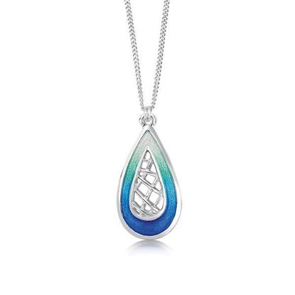 Sheila Fleet - EP0205 Tidal Treasures Pendant (enamel shown in Ocean Hue)