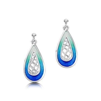 Sheila Fleet - EE205 Tidal Treasures Earrings (enamel shown in Ocean Hue)