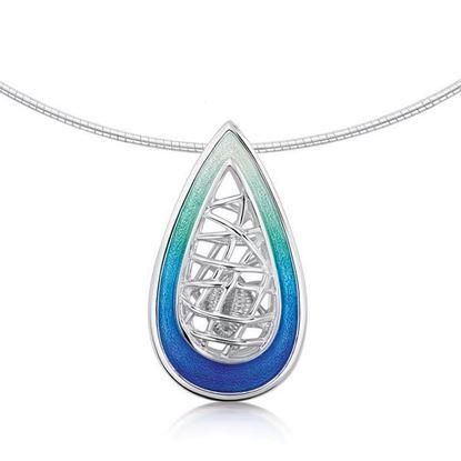 Sheila Fleet - EN205 Tidal Treasures Necklet (enamel shown in Ocean Hue)