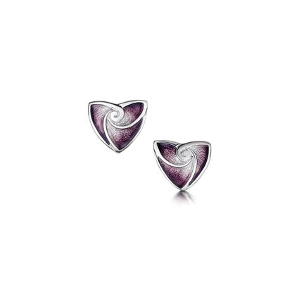 Sheila Fleet - EE53 Turning Tides Earrings (enamel shown in Amethyst)