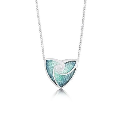 Sheila Fleet - EN53 Turning Tides Necklet (enamel shown in Storm Green)