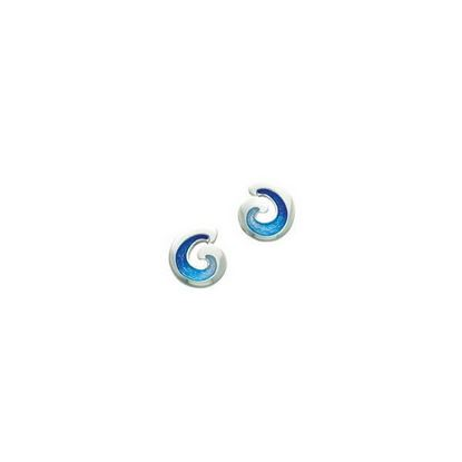 Sheila Fleet - EE0135 Wave Earrings (enamel shown in Ocean Light)