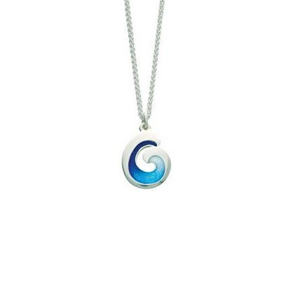 Sheila Fleet - EP135 Wave Pendant (enamel shown in Ocean Light)