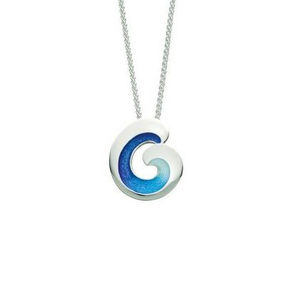 Sheila Fleet - EPX135 Wave Pendant (enamel shown in Ocean Light)