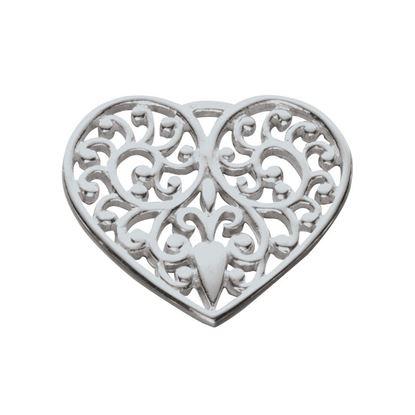Ola Gorie - CHM-00486 Lacy Heart Charm