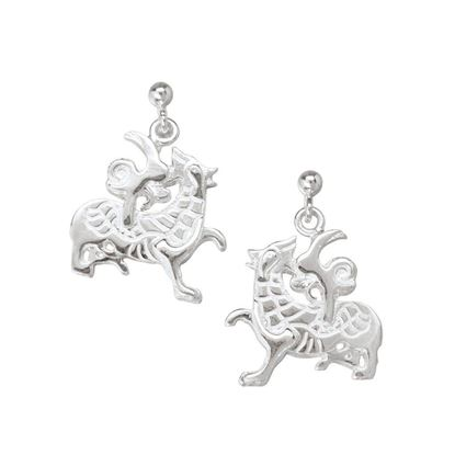 Ola Gorie - EAR-00366 Maeshowe Dragon Earrings