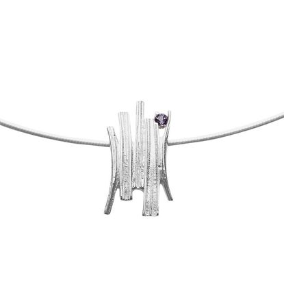 Ola Gorie - PDT-SIL-01035-01-16C Woodwick Pendant (shown on a wire)