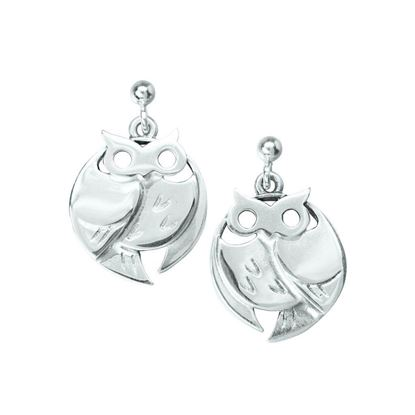 Ola Gorie - EAR-00629 Barn Owl Earrings