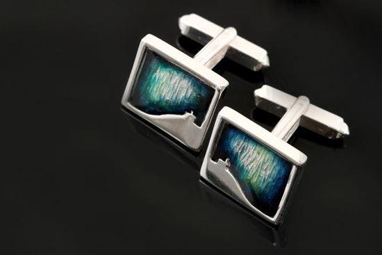 Shetland Jewellery - MDC21 Mirrie Dancers Cufflinks