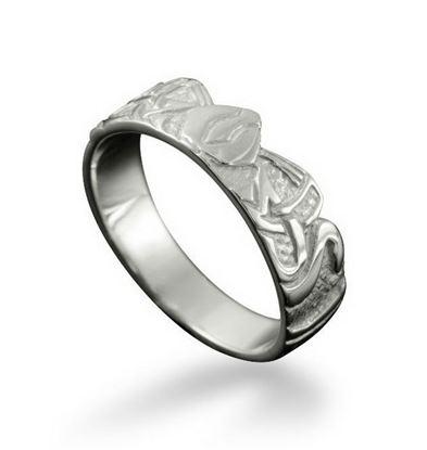 Shetland Jewellery - R7 Three Nornes Ring - Silver