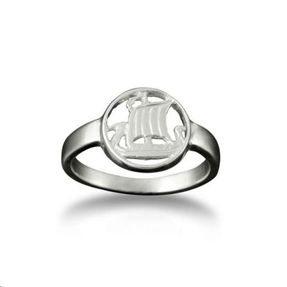 Shetland Jewellery - R99 Viking Ship Ring - Silver