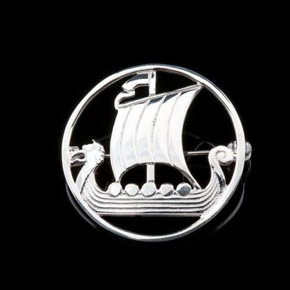 Shetland Jewellery - B15 Viking Ship Brooch