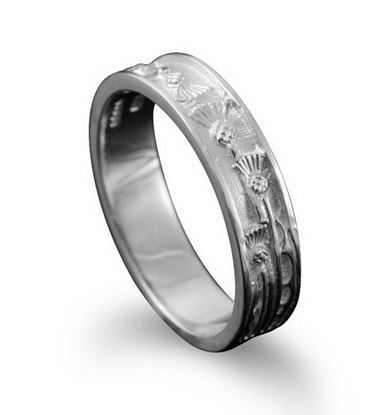 Shetland Jewellery - R134 Thistle Ring - Silver