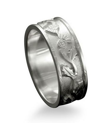 Shetland Jewellery - R132 Thistle Ring - Silver
