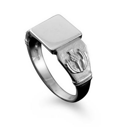 Shetland Jewellery - R102 Thistle Ring - Silver