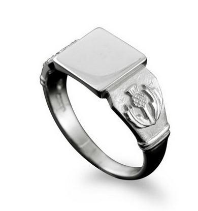 Shetland Jewellery - R112 Thistle Ring - Silver