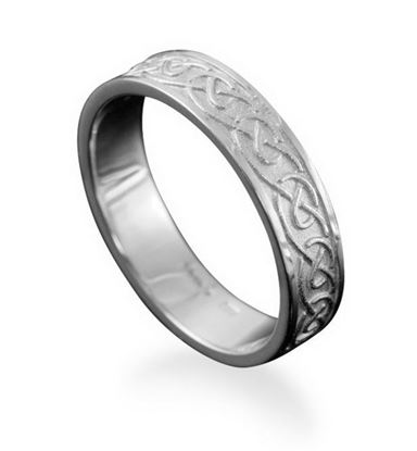 Shetland Jewellery - R123 Mousa Celtic Ring - Silver