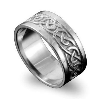 Shetland Jewellery - R122 Noss Celtic Ring - Silver