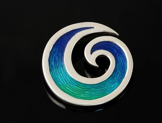Shetland Jewellery - SSB02 Seascape Brooch