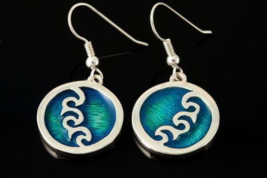 Shetland Jewellery - SSE11-H Seascape Earrings