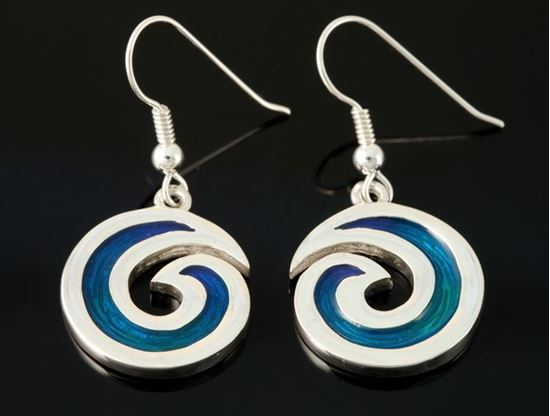 Shetland Jewellery - SSE22-H Seascape Earrings