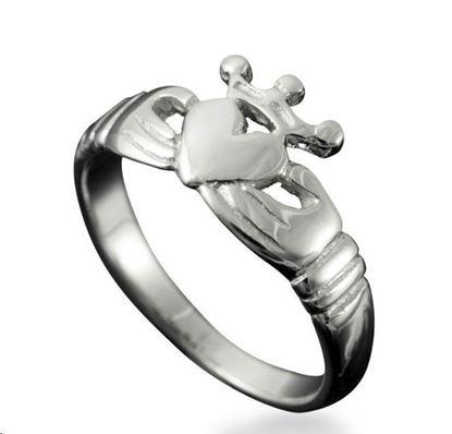 Shetland Jewellery - R151 Claddagh Ring - Silver