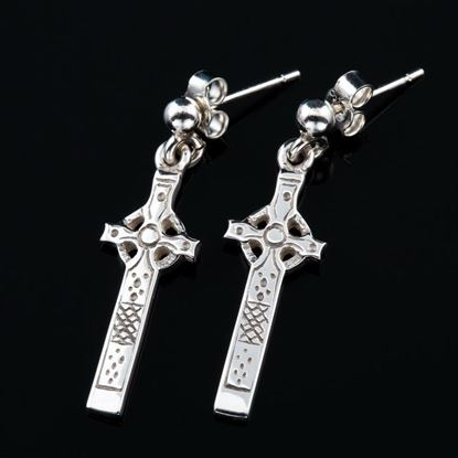Shetland Jewellery - E292 Celtic Cross Earrings