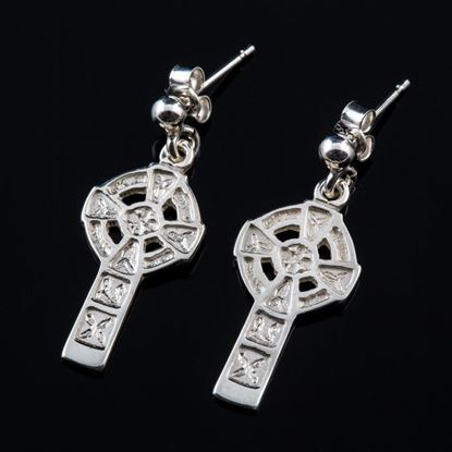 Shetland Jewellery - E28D Celtic Cross Earrings