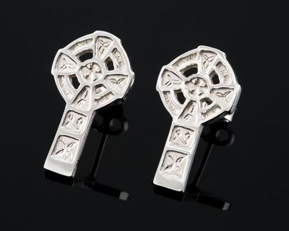 Shetland Jewellery - E28S Celtic Cross Earrings
