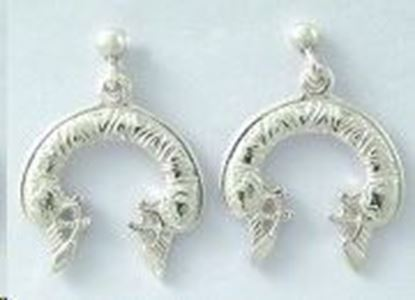 Shetland Jewellery - E588 Celtic Earrings