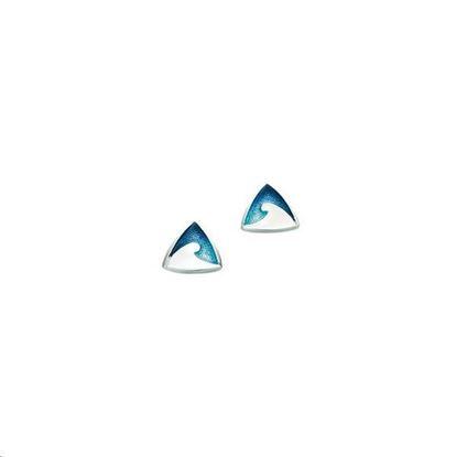Sheila Fleet - EE069 New Wave Earrings (enamel colour shown in Pentland)