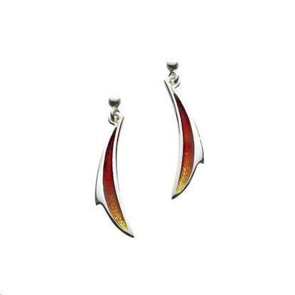 Sheila Fleet - EEX067 New Wave Earrings (enamel colour shown in Flame)