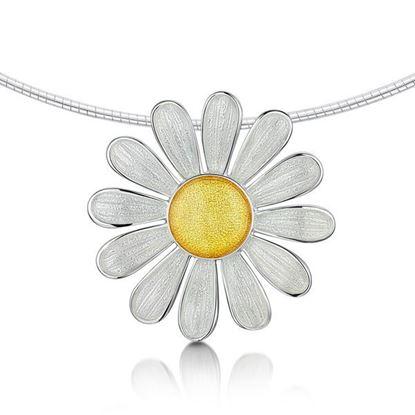 Sheila Fleet - ENXXX233 Daisies Necklet (enamel colour shown in Sunshine)