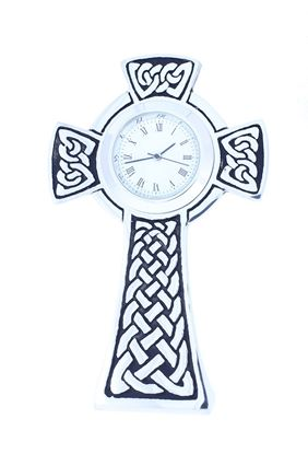 AE Williams - 4134 Pewter Cross Clock