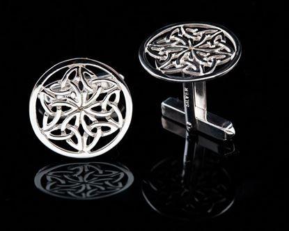 Shetland Jewellery - C432 Celtic Cufflinks