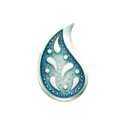 Sheila Fleet - BXX126 Paisley Leaf Brooch (enamel colour shown in Verdi)